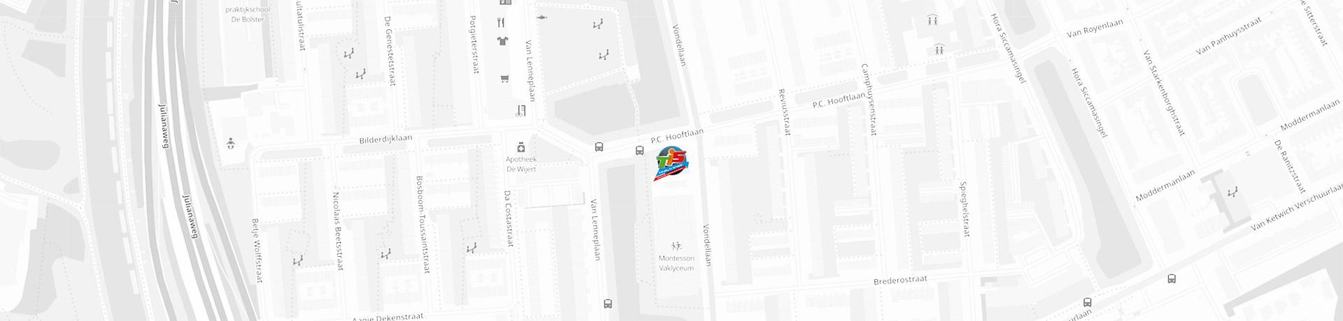 Kaart met de locatie van Totally in Shape